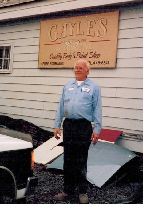 Founder of Gayle's Auto Collision, Mason Gayle.