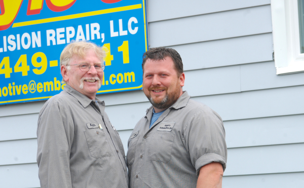 Keith and Chris Gayle, co-owners. Both are expert body and auto repair.